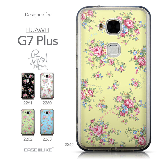 Collection - CASEiLIKE Huawei G7 Plus back cover Floral Rose Classic 2264