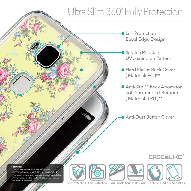 Details in English - CASEiLIKE Huawei G7 Plus back cover Floral Rose Classic 2264