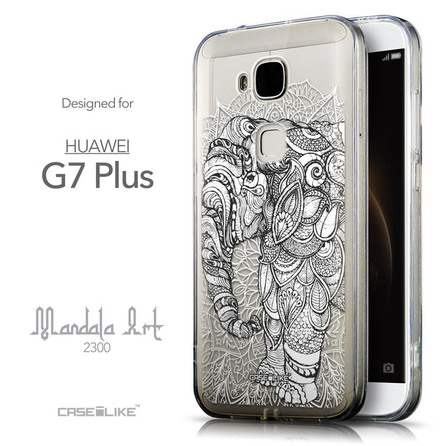 Front & Side View - CASEiLIKE Huawei G7 Plus back cover Mandala Art 2300