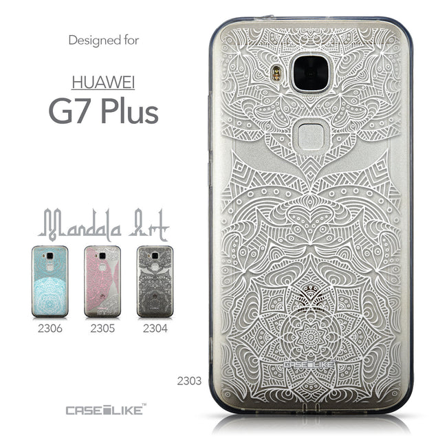 Collection - CASEiLIKE Huawei G7 Plus back cover Mandala Art 2303