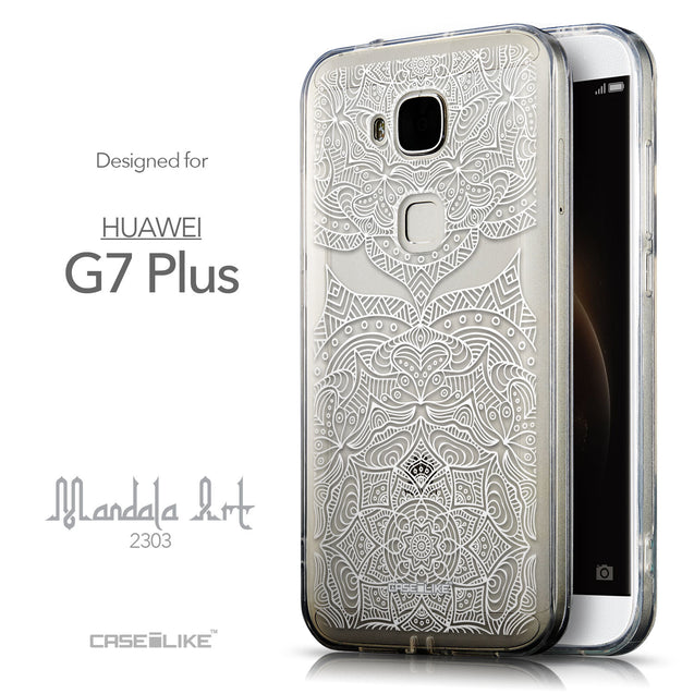 Front & Side View - CASEiLIKE Huawei G7 Plus back cover Mandala Art 2303