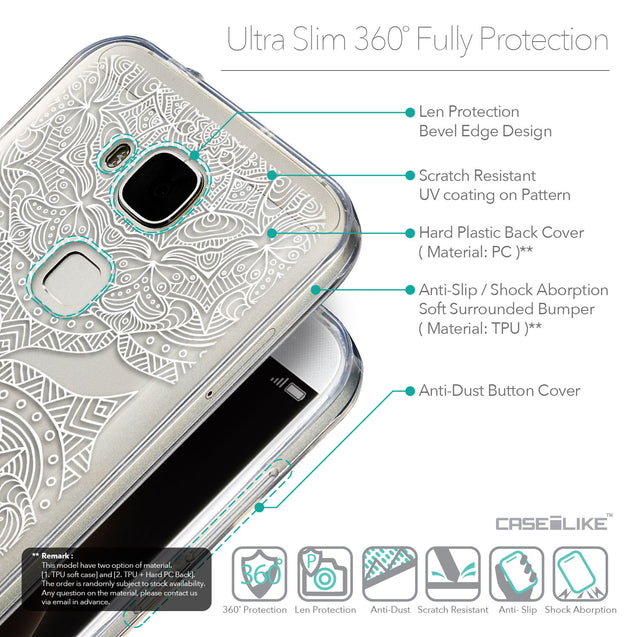 Details in English - CASEiLIKE Huawei G7 Plus back cover Mandala Art 2303