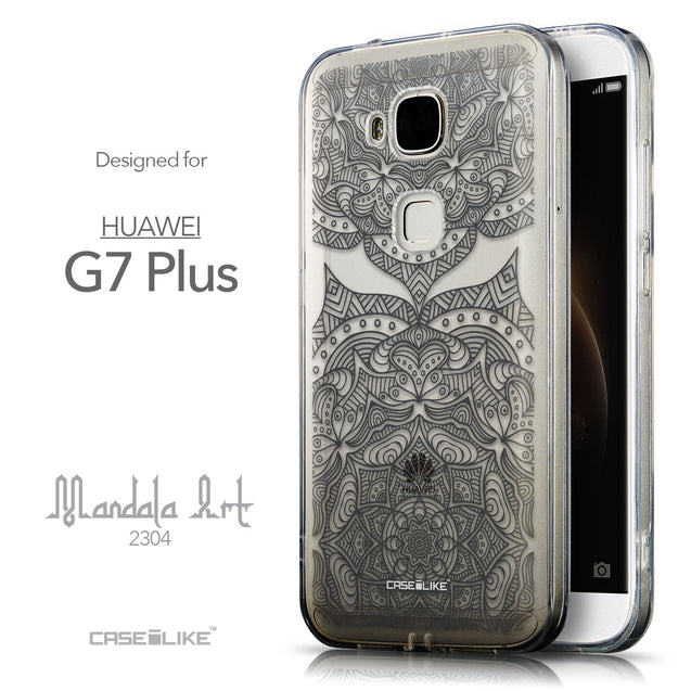 Front & Side View - CASEiLIKE Huawei G7 Plus back cover Mandala Art 2304