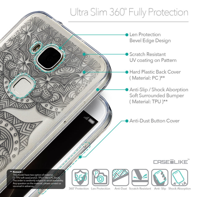 Details in English - CASEiLIKE Huawei G7 Plus back cover Mandala Art 2304