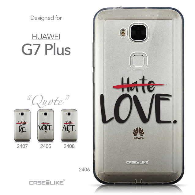 Collection - CASEiLIKE Huawei G7 Plus back cover Quote 2406