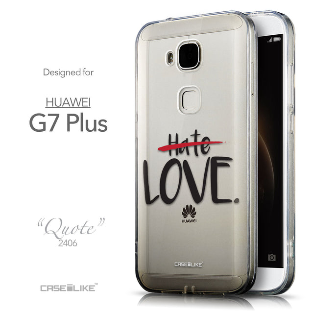 Front & Side View - CASEiLIKE Huawei G7 Plus back cover Quote 2406