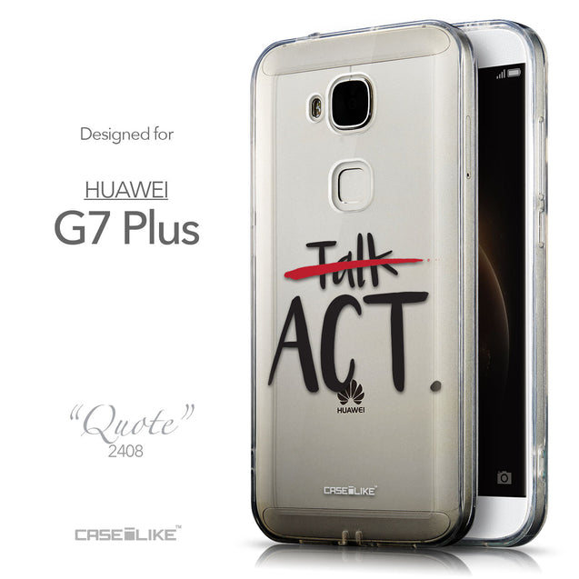 Front & Side View - CASEiLIKE Huawei G7 Plus back cover Quote 2408