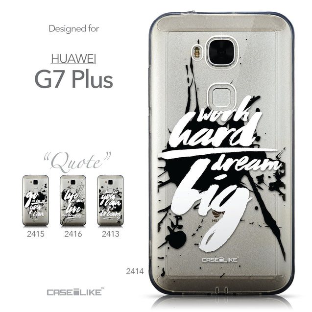 Collection - CASEiLIKE Huawei G7 Plus back cover Quote 2414