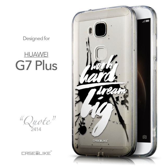Front & Side View - CASEiLIKE Huawei G7 Plus back cover Quote 2414