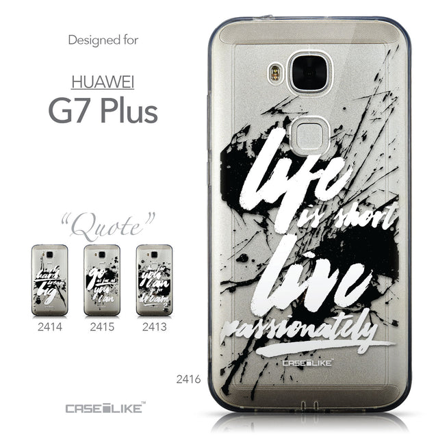 Collection - CASEiLIKE Huawei G7 Plus back cover Quote 2416