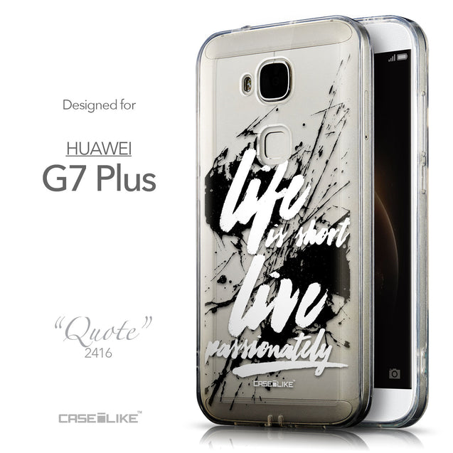 Front & Side View - CASEiLIKE Huawei G7 Plus back cover Quote 2416