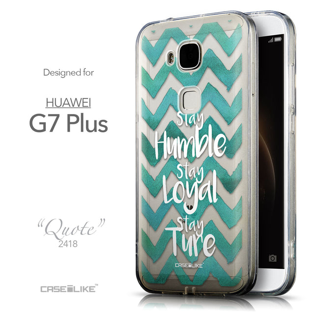 Front & Side View - CASEiLIKE Huawei G7 Plus back cover Quote 2418