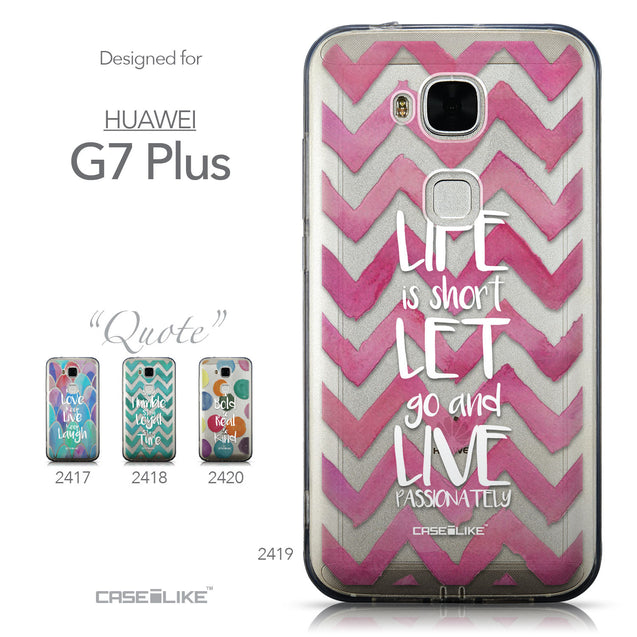 Collection - CASEiLIKE Huawei G7 Plus back cover Quote 2419