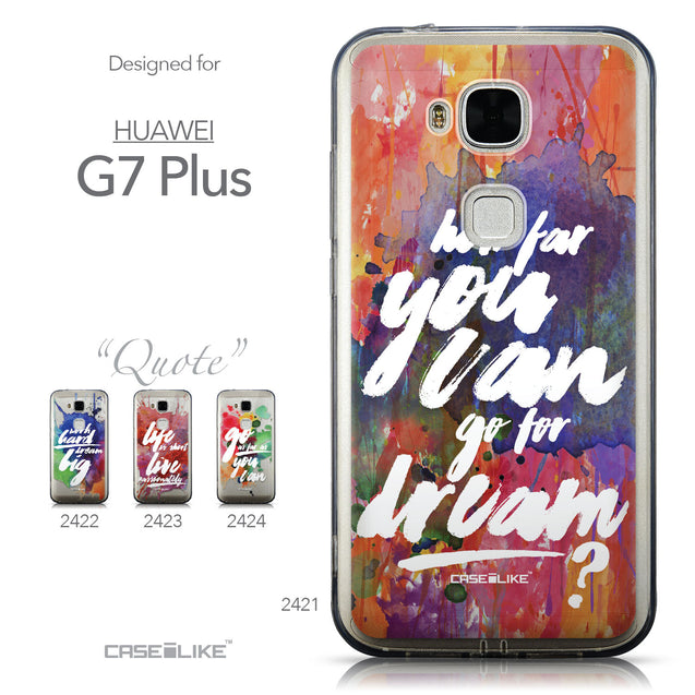 Collection - CASEiLIKE Huawei G7 Plus back cover Quote 2421