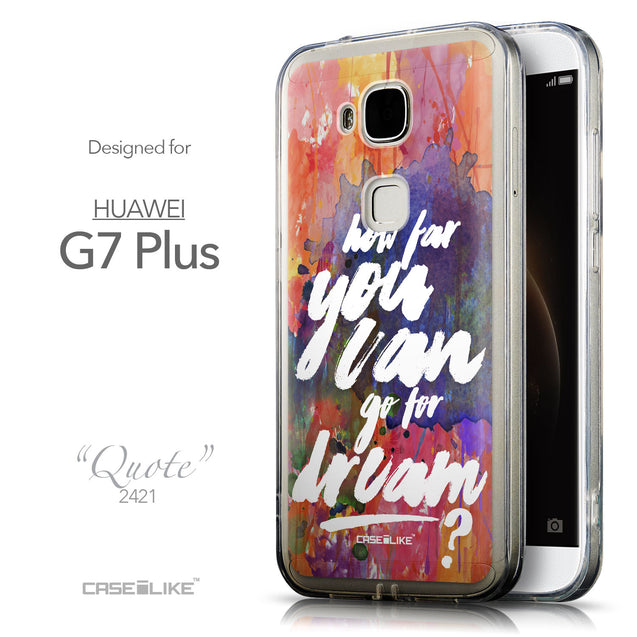 Front & Side View - CASEiLIKE Huawei G7 Plus back cover Quote 2421