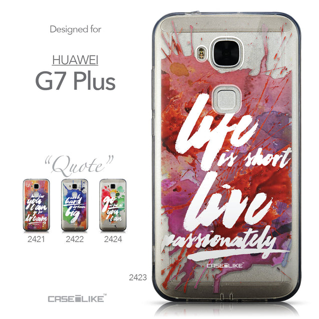 Collection - CASEiLIKE Huawei G7 Plus back cover Quote 2423
