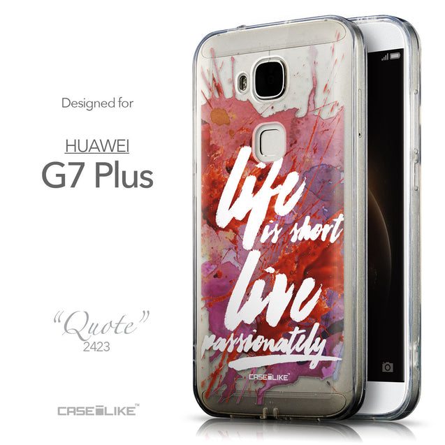 Front & Side View - CASEiLIKE Huawei G7 Plus back cover Quote 2423