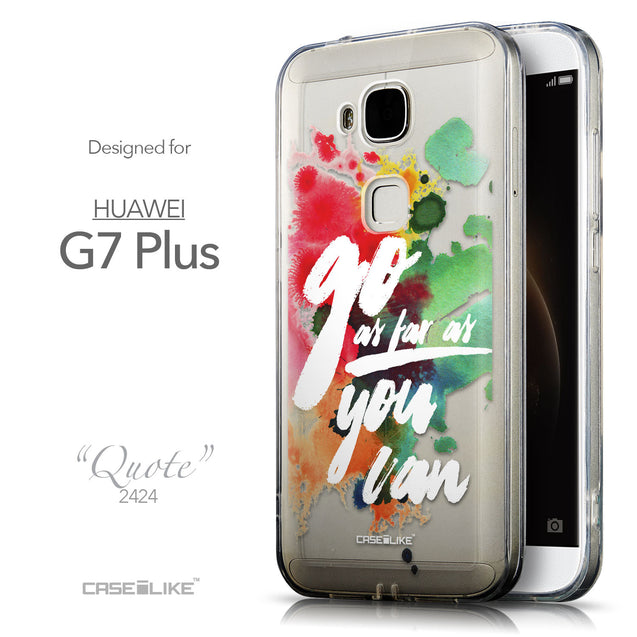 Front & Side View - CASEiLIKE Huawei G7 Plus back cover Quote 2424