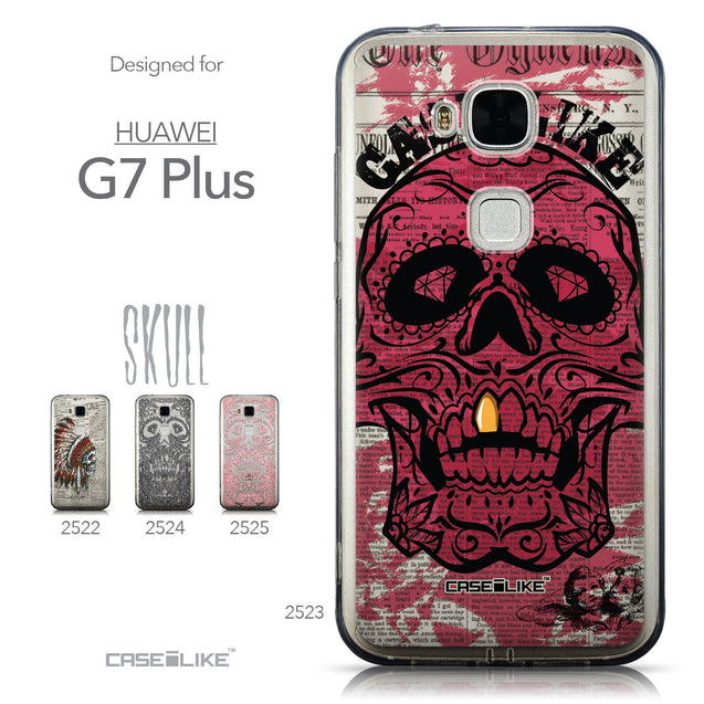 Collection - CASEiLIKE Huawei G7 Plus back cover Art of Skull 2523