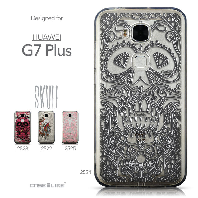 Collection - CASEiLIKE Huawei G7 Plus back cover Art of Skull 2524