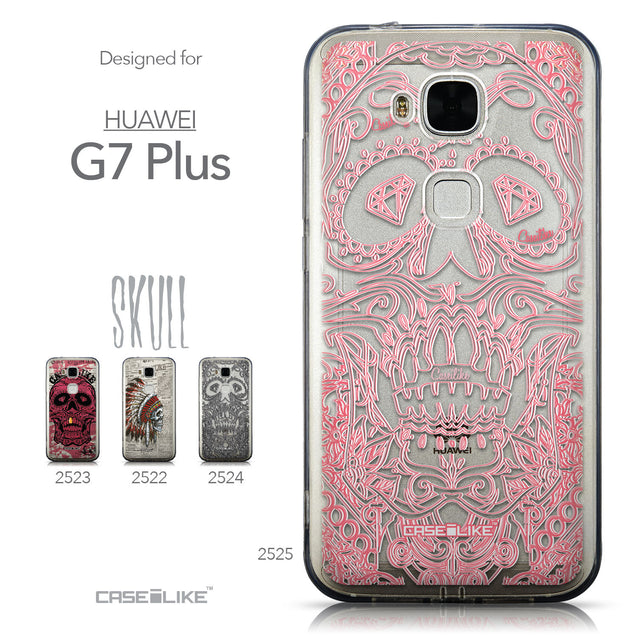 Collection - CASEiLIKE Huawei G7 Plus back cover Art of Skull 2525