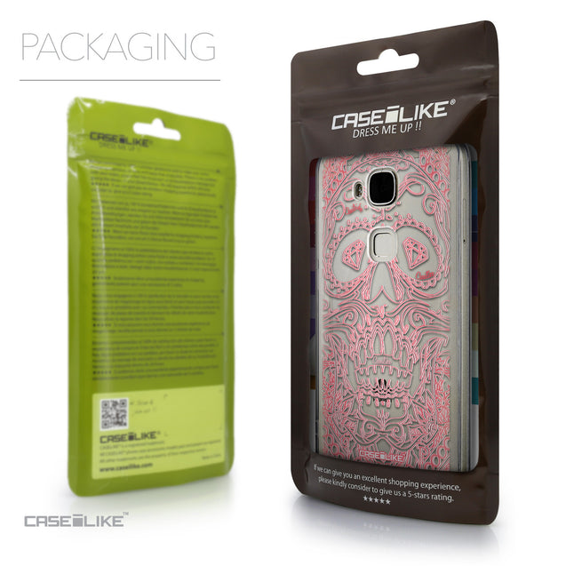 Packaging - CASEiLIKE Huawei G7 Plus back cover Art of Skull 2525