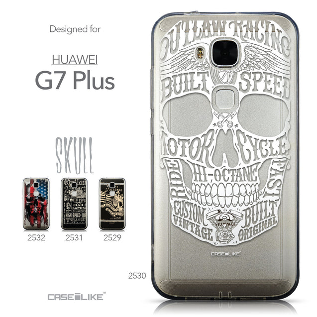 Collection - CASEiLIKE Huawei G7 Plus back cover Art of Skull 2530