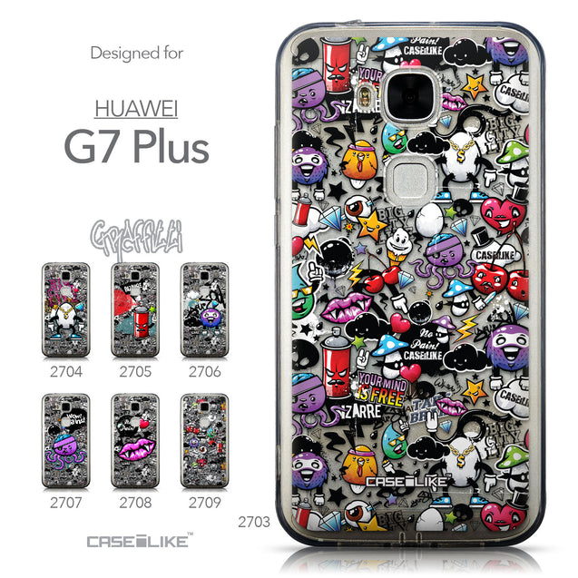 Collection - CASEiLIKE Huawei G7 Plus back cover Graffiti 2703