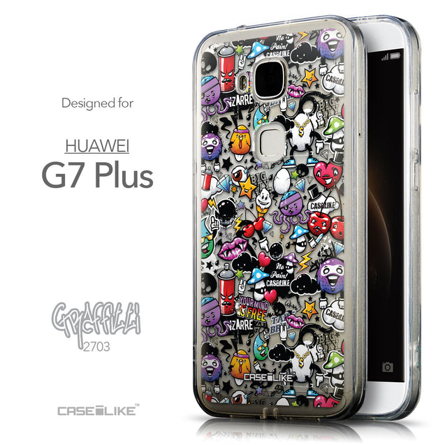 Front & Side View - CASEiLIKE Huawei G7 Plus back cover Graffiti 2703