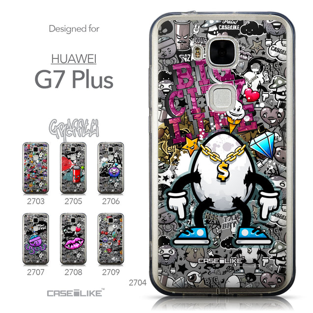 Collection - CASEiLIKE Huawei G7 Plus back cover Graffiti 2704