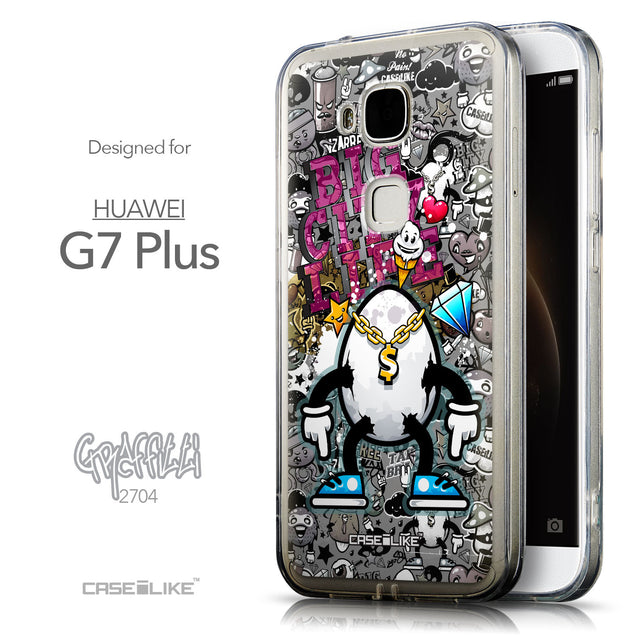 Front & Side View - CASEiLIKE Huawei G7 Plus back cover Graffiti 2704