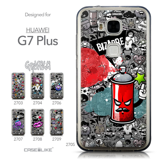 Collection - CASEiLIKE Huawei G7 Plus back cover Graffiti 2705