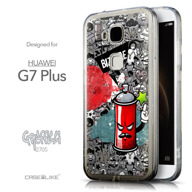 Front & Side View - CASEiLIKE Huawei G7 Plus back cover Graffiti 2705