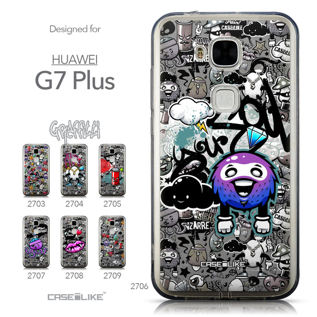 Collection - CASEiLIKE Huawei G7 Plus back cover Graffiti 2706