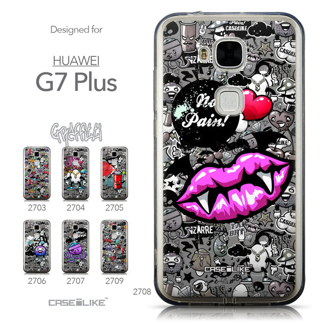 Collection - CASEiLIKE Huawei G7 Plus back cover Graffiti 2708