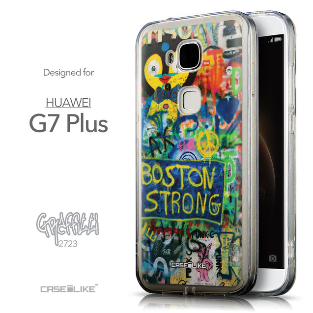 Front & Side View - CASEiLIKE Huawei G7 Plus back cover Graffiti 2723