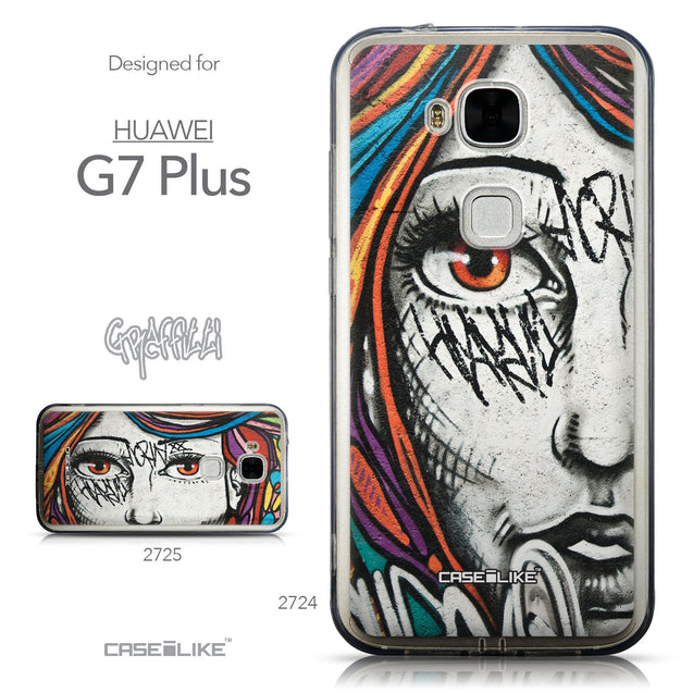 Collection - CASEiLIKE Huawei G7 Plus back cover Graffiti Girl 2724