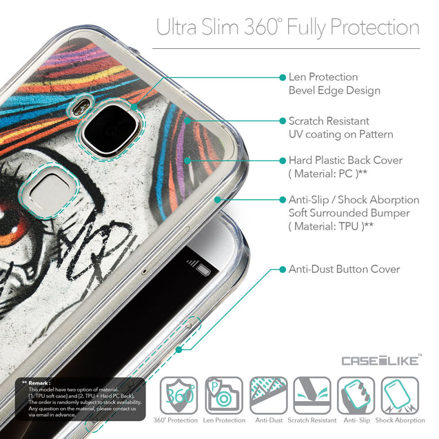Details in English - CASEiLIKE Huawei G7 Plus back cover Graffiti Girl 2724