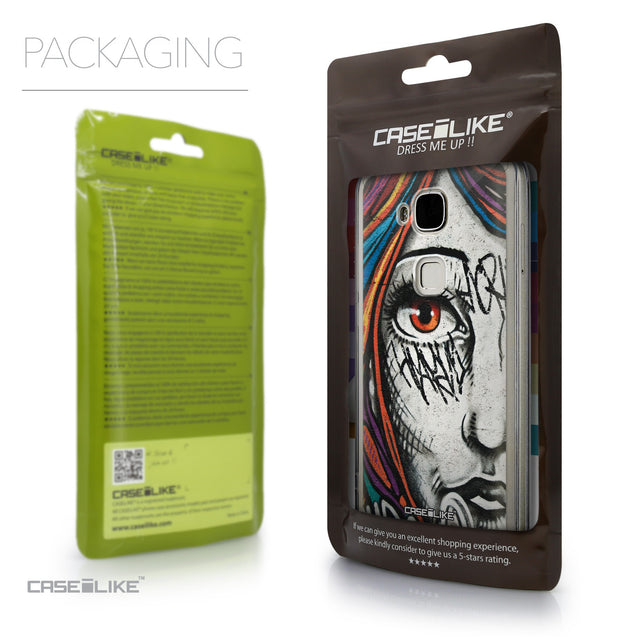 Packaging - CASEiLIKE Huawei G7 Plus back cover Graffiti Girl 2724