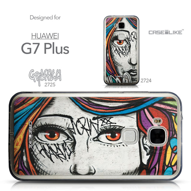 Collection - CASEiLIKE Huawei G7 Plus back cover Graffiti Girl 2725