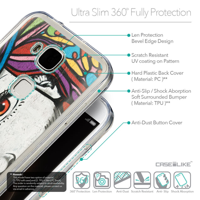 Details in English - CASEiLIKE Huawei G7 Plus back cover Graffiti Girl 2725