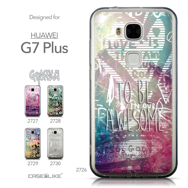 Collection - CASEiLIKE Huawei G7 Plus back cover Graffiti 2726