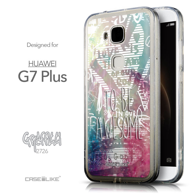 Front & Side View - CASEiLIKE Huawei G7 Plus back cover Graffiti 2726