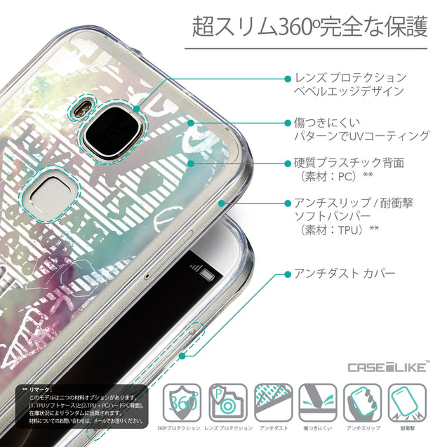 Details in Japanese - CASEiLIKE Huawei G7 Plus back cover Graffiti 2726