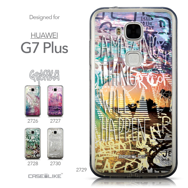 Collection - CASEiLIKE Huawei G7 Plus back cover Graffiti 2729