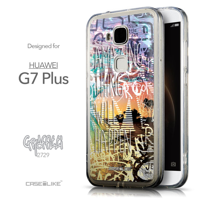 Front & Side View - CASEiLIKE Huawei G7 Plus back cover Graffiti 2729