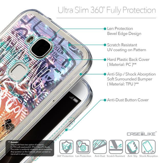 Details in English - CASEiLIKE Huawei G7 Plus back cover Graffiti 2729