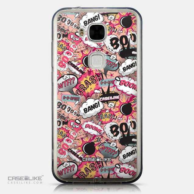 CASEiLIKE Huawei G7 Plus back cover Comic Captions Pink 2912