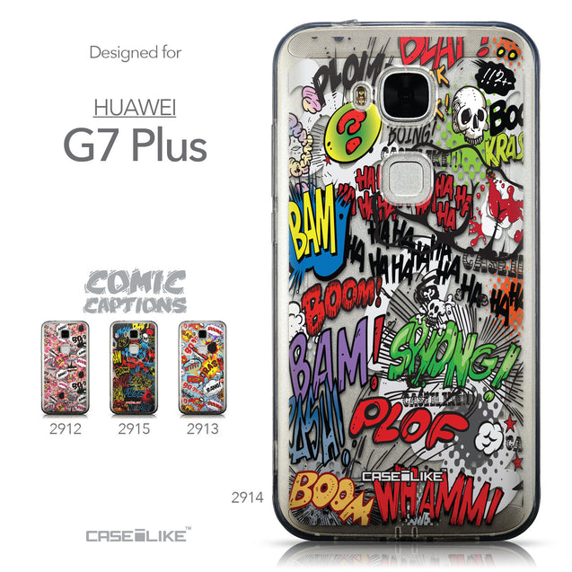 Collection - CASEiLIKE Huawei G7 Plus back cover Comic Captions 2914
