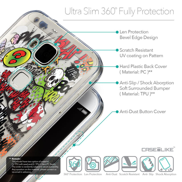 Details in English - CASEiLIKE Huawei G7 Plus back cover Comic Captions 2914